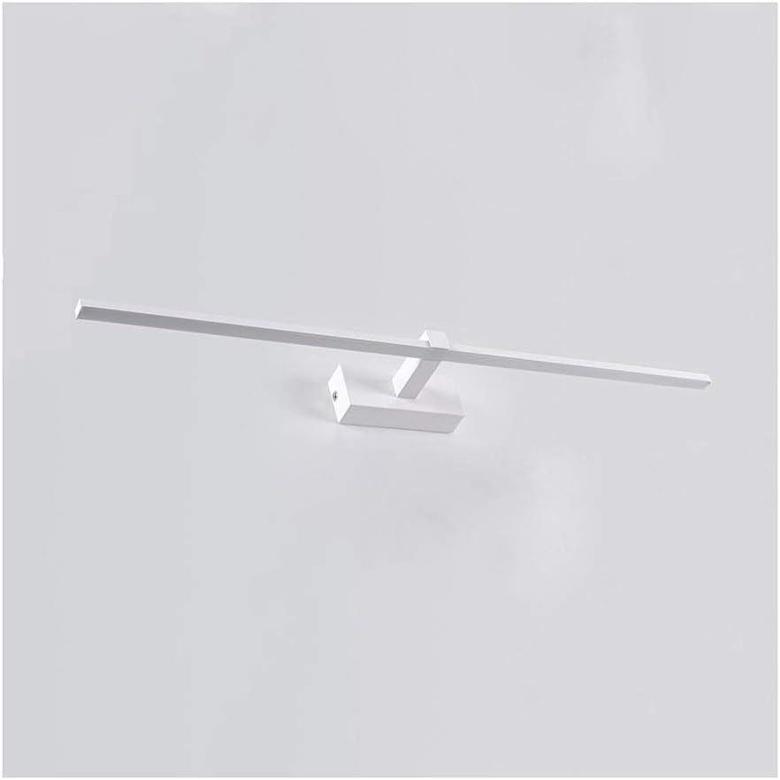 0 ウォールランプミラーヘッドライトバスルームミラーキャビネットランプバスルームメイクアップランプ防水フォグランプLEDライト 0 (Color : Three-color light, Size : 80CM)
