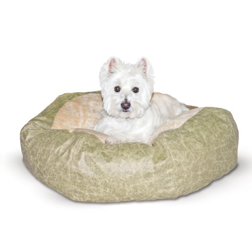 Green Distress Large Self Warming Cuddle Ball Dog Pillow