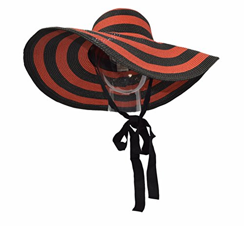 red-black-straw-beach-hat-floppy-wide-brim-sun-hat-packable-with-ribbon-chin-tie