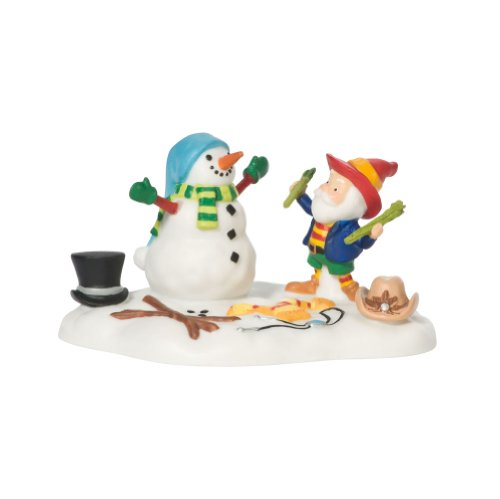 North Pole Snowman - Department 56 North Pole Best Dressed Snowman Accessory Figurine