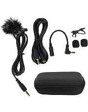 Lavalier Microphone Portable 3.5mm Lavalier Lapel Clip-On Mic for PC, Laptop, Mobile Phones, Tablets, Recording Pens, SLR Cameras, etc