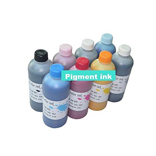 GOWE 500 ml juego de botella de tinta de pigmento para Epson PRO ...