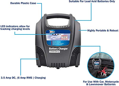 Streetwize SWCBC6 Cargador de batería - 6 Amp Arranque de ...