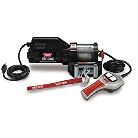 WARN 85330 1500AC 120V Electric Utility Winch – 1,500 lbs. Capacity