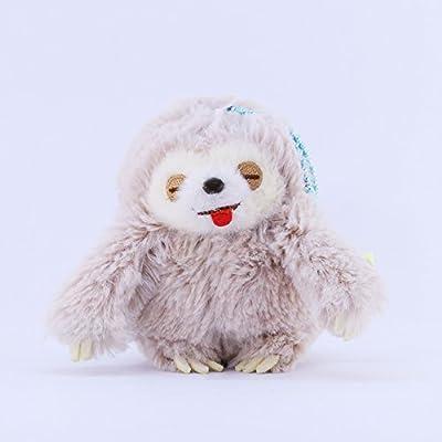 Amuse Sloth Plush Namakemono Mikke Matarri Moca - Sloth Plush Ball Keychain 3.9&Quot; Height - Authentic Kawaii From Japan - Amuse