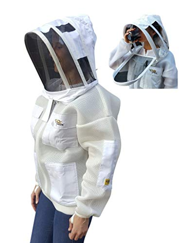 OZ ARMOUR Double Layer MESH Ventilated Jacket Fencing Veil with Free Gloves (Large)