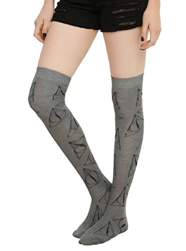 Harry Potter Deathly Hallows Over-The-Knee Socks
