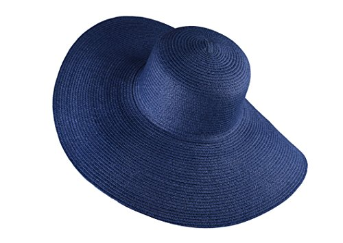 b5bbf3f8 Navy Blue Floppy Straw Hat with Large Wide Brim Foldable Sun hat for Women  - Buy Online in Oman. | Apparel Products in Oman - See Prices, Reviews and  Free ...