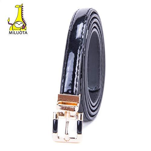 MILUOTA Metal Buckle Casual Belts for Women Belt Women's PU Leather Waistband for Lady Dresses MU227