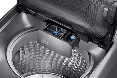 Samsung 11 Kg Inverter 5 star Fully-Automatic Top Loading Washing Machine (WA11J5751SP/TL, Silver, Wobble Technology) 2021 July Fully-automatic top load washing machine: Affordable with great wash quality, Easy to use Capacity 11kg: Suitable for families with 4 to 5 members 3 years on product, 10 years on motor