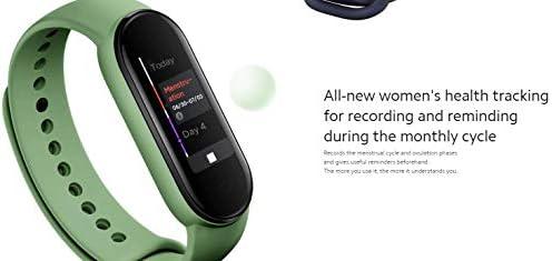 Xiaomi Mi Smart Band 5 (2020) Pantalla a color AMOLED de 1,1 pulgadas, pulsera impermeable IP68 BT 5.0 Fitness, Sleep, frecuencia cardíaca 24/7, deportes, natación, rastreador de salud (modelo global, negro) 10