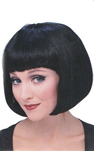 Supermodel Costume Wig Short Bob Wig 50425 (Womens Black Super Model Wig Costumes)
