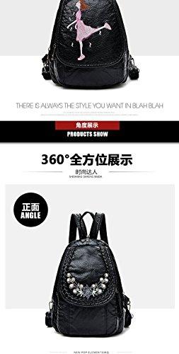de à black petit sac cuir souple dos de sac femme d dames loisirs d'épaule MSZYZ multi d'épaule Mini sac fonction sac Sac la Pw1qx0z7g