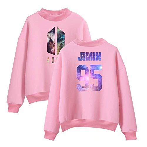 Blusa Stampato Autunno Size Primaverile color Collo Camicetta Bello Lunga Pink Pullover Eleganti Abbigliamento Donna Tops Manica Rotondo Vintage Moda 2xl 2 Casual 7ZwPqfv