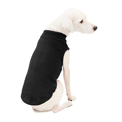 Gooby Stretch Fleece Pull Over Cold Weather Dog Vest, Black, X-Large