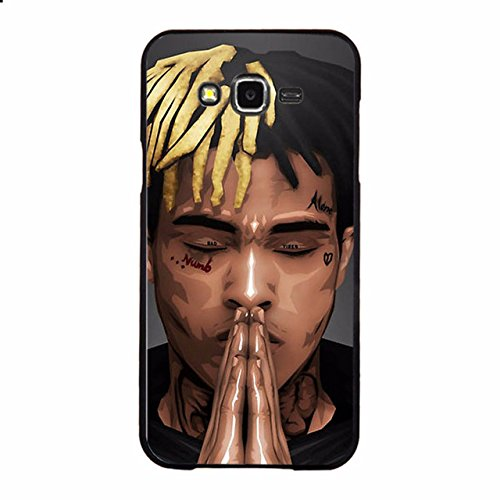 C.N. Black Brown Praying Hands XXXTentacion Galaxy J3 2016 Case Wow Yellow Hair Cool Cartoon XXX Tentacion Phone Cover Triple X Rap Artist Art Picture Hip Hop Themed Rapper Black Siding, Hard Plastic]()