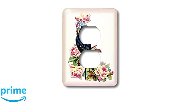3D Rose LSP/_228319/_6 Blue Triangle Butterfly 2 Plug Outlet Cover