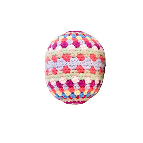 Baby Rattle - Organic cotton crochet - Rainbow Ball