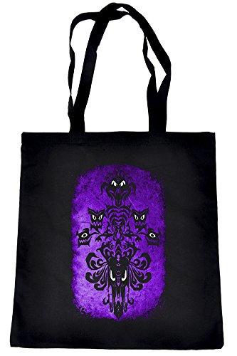 Haunted Mansion Wallpaper Tote Bag Halloween Alternative Clothing Book Bag ()