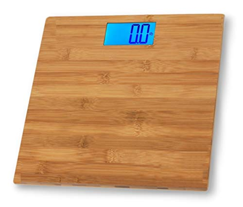 Eco4us - Bamboo Bathroom Scale, Body Scale, Weight Scale, Eco-Friendly, Stylish Design ()