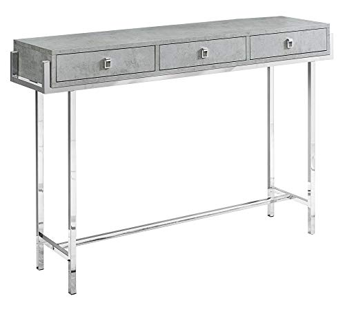 Monarch Specialties I I 3298 Accent Table, Grey