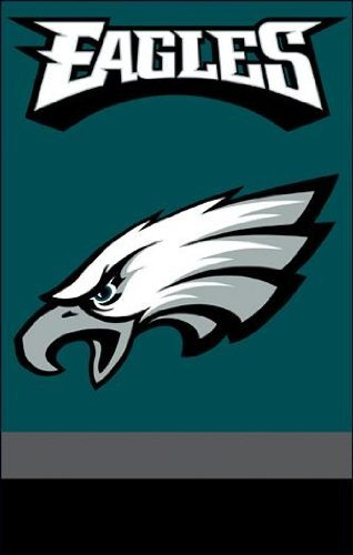 - Party Animal Sports Team Logo Philadelphia Eagles Applique Banner Flag