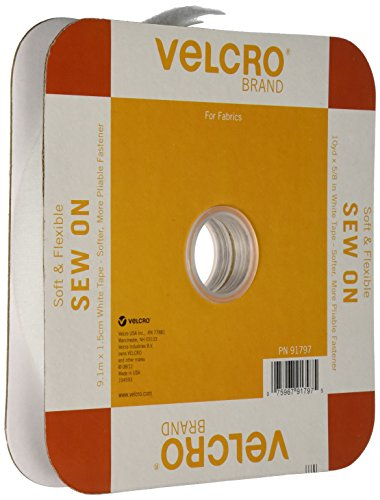 VELCRO Brand 91797 Flexible White tape, 30ft x 5/8in, ()
