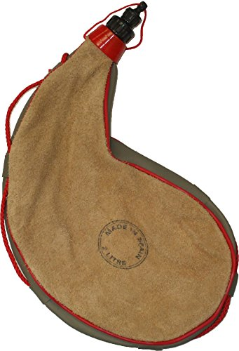 Army Universe Spanish Leather Wine Bota Large Canteen Flask Pouch Container Bag, 2 Liter