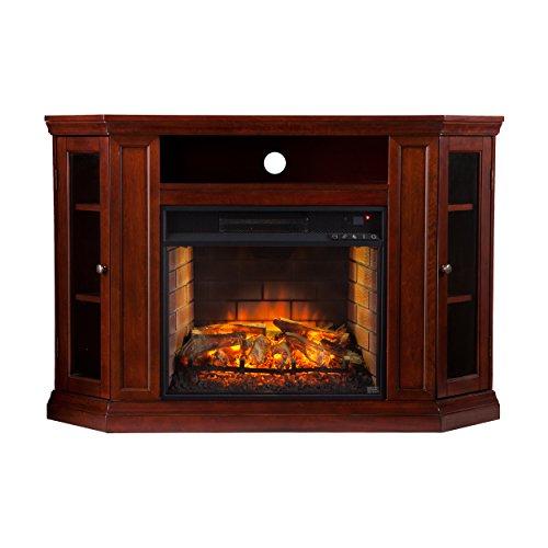 Southern Enterprises AZ0139IF Claremont Convertible Media Infrared Fireplace, Cherry Finish