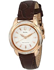 Bulova Womens 98R152 Precisionist Brightwater Leather strap Watch