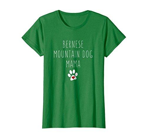 - Womens Bernese Mountain Dog Mama t-shirt for fur mamas XL Kelly Green