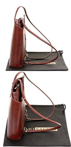 nbsp;Versions à Sac main ou de moyennes et à bandoulière sac à Marron à italien dos grandes un cuir sac en main sac fabriqué nbsp;Comprend de protecteur rangement la Grand marque qarXn07wxa