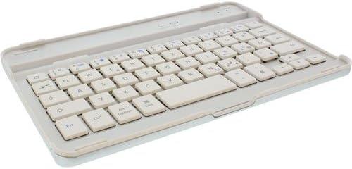InLine 55371W Teclado para móvil - teclados para móviles (Color Blanco, Aluminio, Mini, QWERTZ, Alemán, 60h)