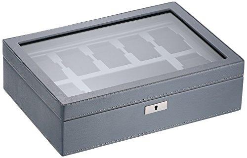 WOLF 465265 Howard Watch Box, Grey
