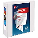 Avery Heavy-Duty View Binder, 3' One Touch Rings, 670-Sheet Capacity, DuraHinge, White (79793)