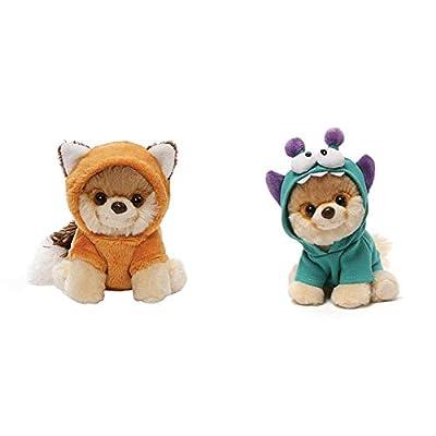 GUND Itty Bitty Boo Plush Stuffed Red Fox, 5 Bundle Itty Bitty Boo #034 Monsteroo Dog Stuffed Animal Plush, 5