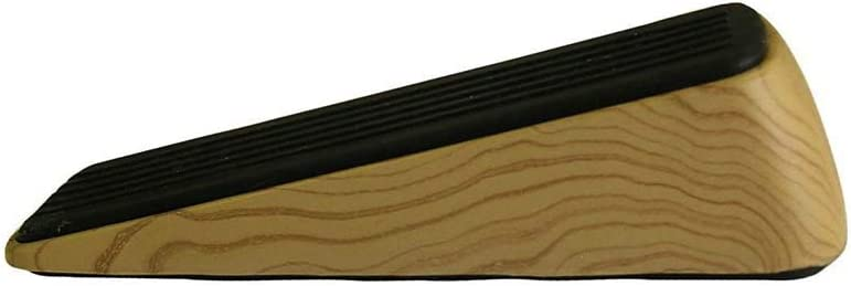 Door Wedge Non-Skid Rubber Base Grip Woodgrain