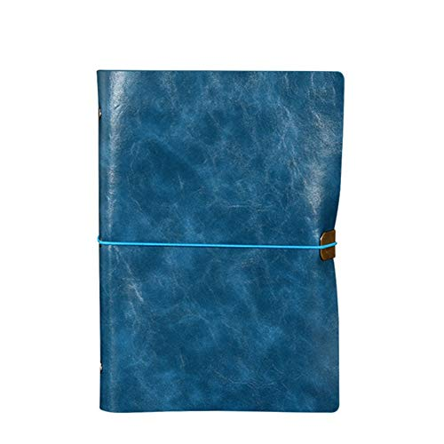 Notebooks Journal Classic Black Paper Faux Notebook Dotted Leather Writing Hard Classic Notebook Ruled Notebook Faux Leather with Pu Classic Blue]()