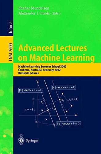 Advanced Lectures on Machine Learning: Machine Learning Summer School 2002, Canberra, Australia, February 11-22, 2002, R