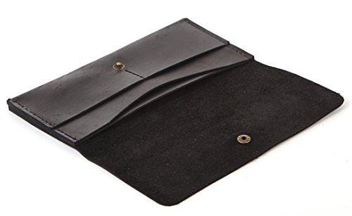 Wallet Genuine Black 100 Purse Horse Crazy Vintage Clutch Bag Leather Women Small Crossbody 77ESRqH