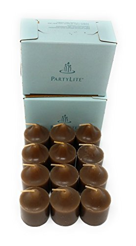 PartyLite Universal Scented Votives 1 Dozen (Coconut Milk Chocolate)