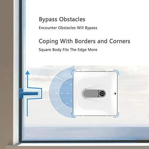 Robot lave vitres, Robot Nettoyeur de Vitre Automatique Auto Stop Système, silencieux, Essuie-glace automatique
