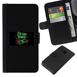 All Phone Most Case / Oferta Especial Cáscara Funda de cuero Monedero Cubierta de proteccion Caso / Wallet Case for HTC One M9 // I'D Tap That - Funny - Video Game