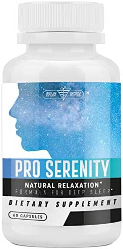 Natural Sleep Formula, Stress & Anxiety Relief - Relaxes Mind & Body, Fall Asleep Fast Without Waking Up Groggy by PRO Serenity - 60 Capsules