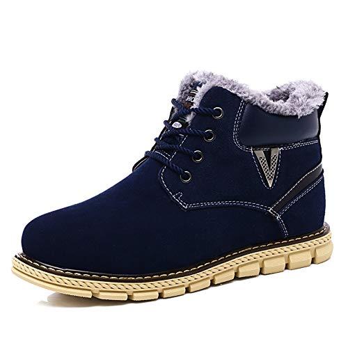 Y Cuero Botas Hombres Cálidas De Unisex Tallas Segundo Grandes Martin Algodón Exteriores Cálido Zapatos Terciopelo Nieve Invierno Hombre Botines Para qSBB7a