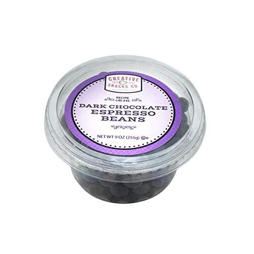 Creative Snacks Dark Chocolate Espresso Beans 9 OZ (Pack of 12)