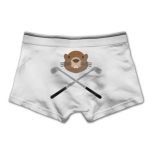 Price comparison product image Buopi Gopher Basic Solid Ultra Soft Men's Underwear Trunks Cotton Stretch Brief XXLWhite
