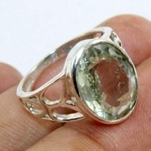 925 Sterling Silver Ring avec Ovale Gemme Améthyste
