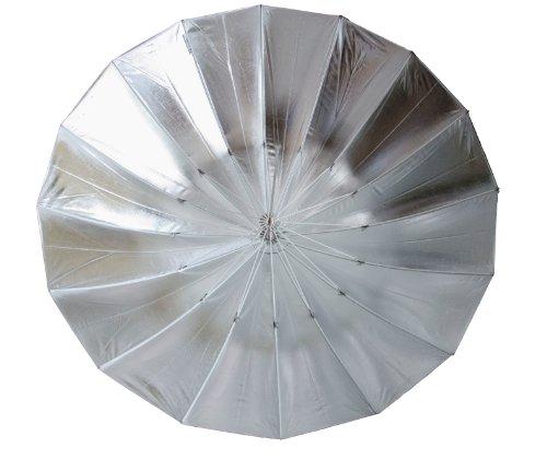 "Studiohut 16-rib 60"" Silver/Black Double Flash Umbrella"
