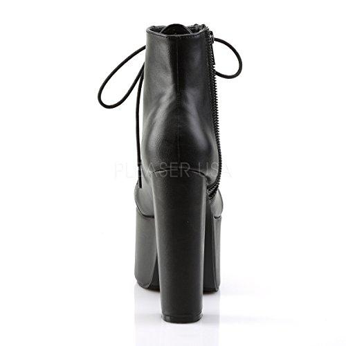 Higher-Heels Demonia Schnür-Stiefel mit Plateau Torment-712 Kunstleder Schwarz